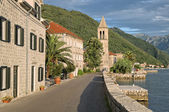 Kotor Bay Along Stoliv Village, Montenegro  (hdr) — Stock Photo