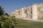 Surrounding Wall And Minaret — Stock Photo