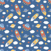 Baby seamless pattern — Stock Vector