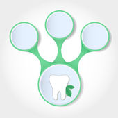 Dental infographics — Vettoriale Stock