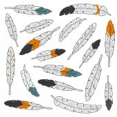 Set of feathers — Stock Vector