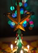 Christmas iron tree — Stock Photo