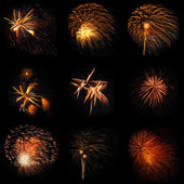 Fireworks shot with slight movement and shaking . — Stock Photo