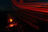 Magic fire — Stock Photo