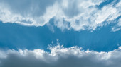 Clouds and sky for text — Stock Photo