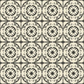 Geometric ornament seamless pattern.  Textile design template seamless background. Round, polygonal and grunge motif endless texture. Monochrome  vector illustration. — Stock Vector