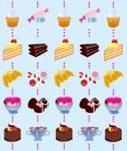 Słodycze, ciasto, czekolada, lody, — Zdjęcie stockowe