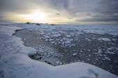 Arktyczna zima w południowej Spitsbergen — Zdjęcie stockowe