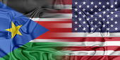 USA and South Sudan — Stock Photo