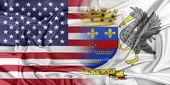 USA and Saint Barthelemy — Stock Photo