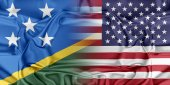 USA and Solomon Islands — Stock Photo