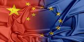 European Union and China. — Foto de Stock