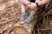 Men's hiking sneakers — Stock Photo