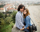 Italian happy couple — Stock Photo