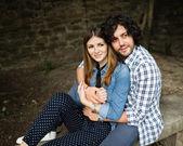 Italian happy couple — Stock Photo