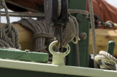 Boat detail with rope and equipment — Stock Photo