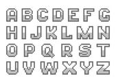 Alfabeto di pixel art — Vettoriale Stock
