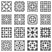 Vector geometric elements — Stock Vector