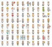 Pixel set of people — Stock Vector