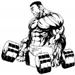 Bodybuilder hard traning — Stock Photo #74819603