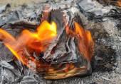 燃烧的书 — 图库照片