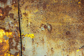 Chipped paint on iron surface texture background — Stock Photo