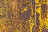 Surface of rusty iron with remnants of old paint texture background — Stock Photo