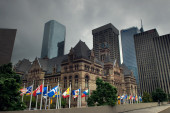 Street view, down town, Toronto, Ontario, Canada — Stock Photo