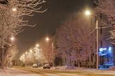 The snowy street — Stock Photo