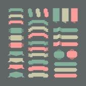Vector set of design elements. — Stock Vector