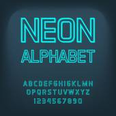 Neon font. Vector illustration. — Stock Vector