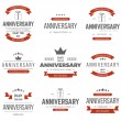 Vector set of anniversary signs, symbols. Design elements collection. — Stock Vector #80000762