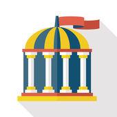 Building theme dome elements cartoon — Stock Vector