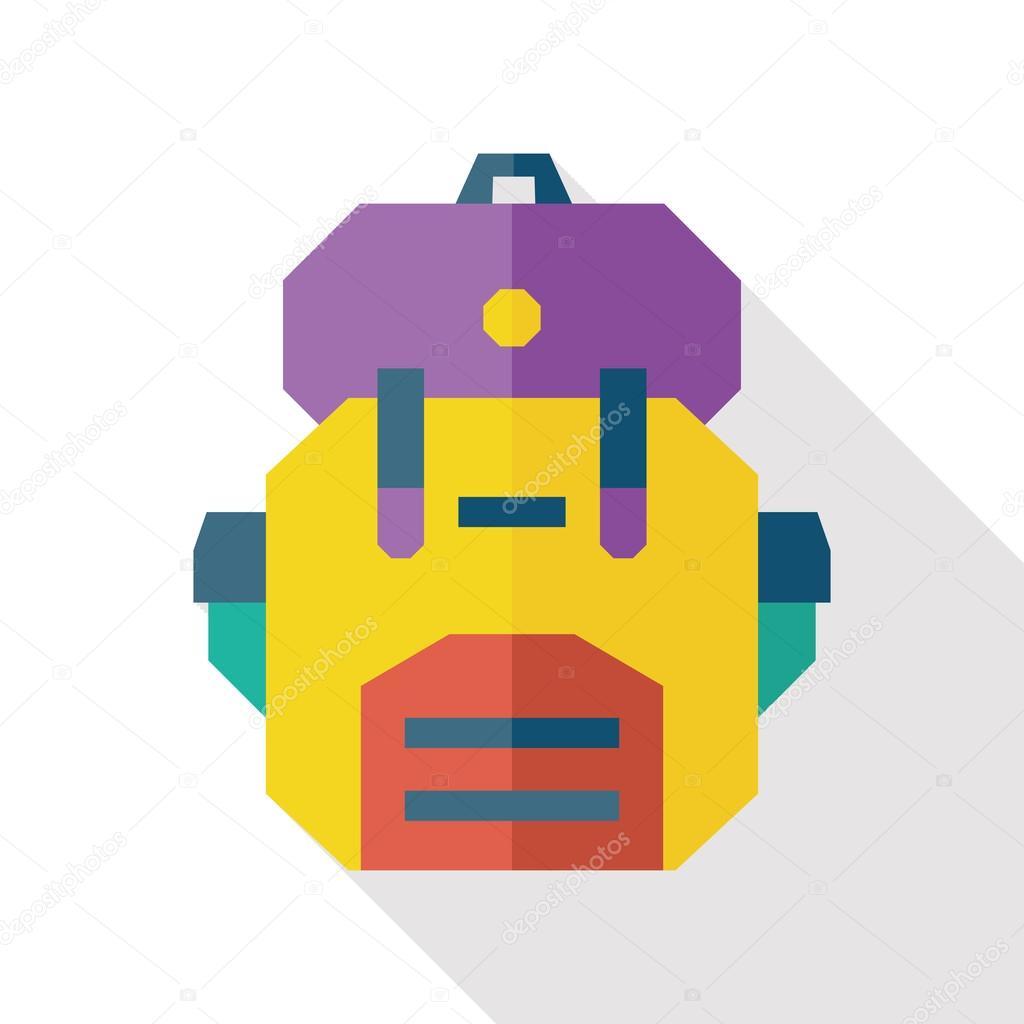 School bag diagram - School Bag Flat Icon With Long Shadow Stock Vector 72545289