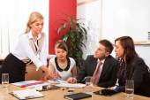 Business People Having Board Meeting  — Stock Photo