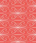 Abstraktní vzor bezešvé s krajkovým tvarů. Roztomilý vektorové ilustrace na světle červeném pozadí. — Stock vektor