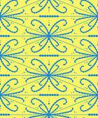 Абстрактный фон с ажурной формы. Желтый и синий векторные иллюстрации. — Cтоковый вектор