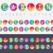 Trendy multicolored alphabet letters icons — Stock Vector #72569831