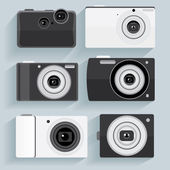 Flat designed cameras set — Stock Vector