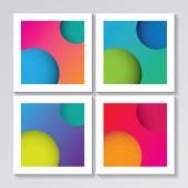 Framed abstract wallpaper set — Stock Vector