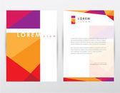 Brochure cover and letterhead template design — Stock Vector