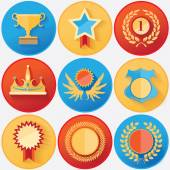 Rewards and achievements medals set collection — Stock Vector