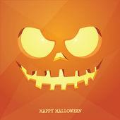 Pumpkin curving -face close up — Stock Vector