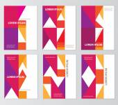 Abstract geometric colorful brochure cove — Stock Vector
