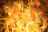 Fire polygonal background — Stock Photo