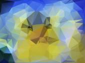 Yellow-blue polygonal background — Stock Photo