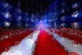July 4th Polygon Background — Stock Photo