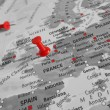 Red marker over France - Europe — Stock Photo #75205787