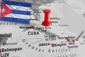 Rode markering over Cuba eiland — Stockfoto