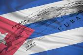 Geographical view of Cuba — Stock Photo